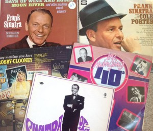 collection of Frank Sinatra records